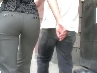 eastern European perfect ass wins on all fronts in street candid