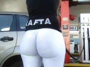 Knackarsch tight white leggins