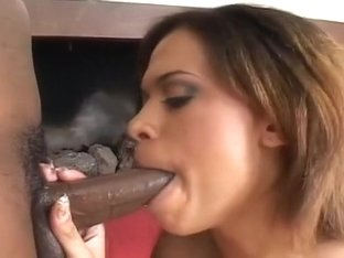 Chocolate Beauty Gets Both Holes Rammed