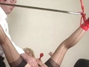 COOKIE STRETCHING AND BALL CREAM PIE IN NYLONS