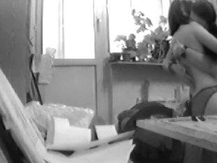 Two horny lesbians having sex on the hidden camera