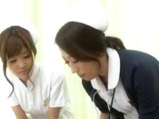 Naughty Nurses Erika Kashiwagi And A Friend Suck A Patient Off