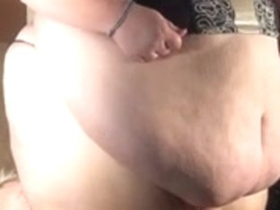 Extremely fat dominatrix tortures her slave