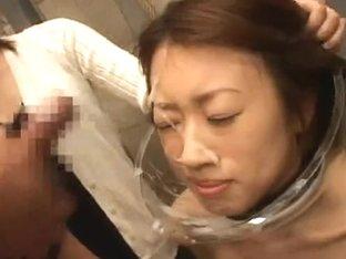 Japanese Cum Dump Slut Acquires Sprayed With Ball Batter!