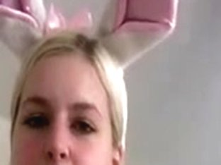Blonde honey with big tite gets fucked by a bunny man