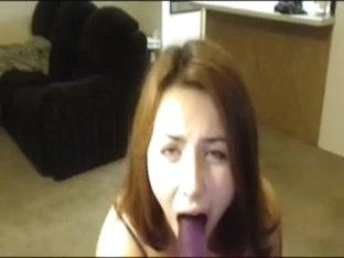 Sucking my favorite toy in private milf video clip