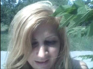 legal age teenager cutie squirt in nature's garb in the park