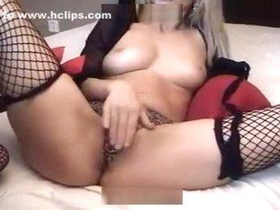 sandracole caresses herself through her panties