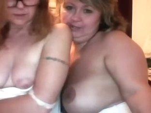 2 Horny Cock Craving Milfs Get Horny Together on Webcam