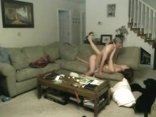 Ex college girlfriend and me fucks in the living room
