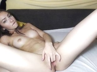 Outrageously hot camgirl masturbates