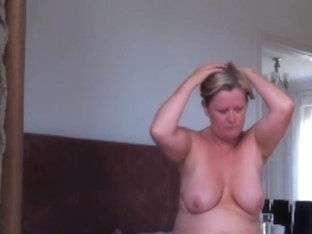Hot fuck with mature busty blonde