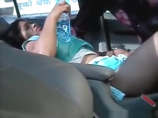 Indian girl has a missionary quickie in a car, but doesn't seem to like it.
