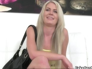 Pink panties gal fucked on casting