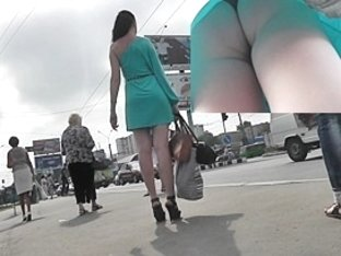 Sexy upskirt arse of a party gal