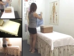 Asian teen hottie enjoys in hidden cam erotic massage clip