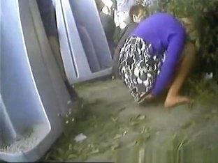 Girls Peeing in Public