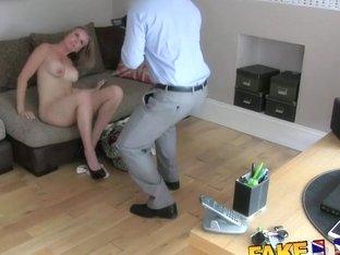 FakeAgentUK Husband interrupt agent fucking wifes pussy