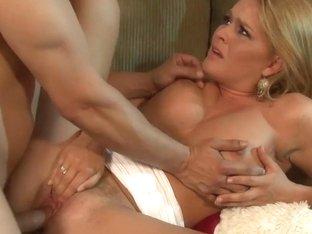 Krissy Lynn takes this hard dick deep in her moist slot