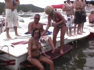 many random women flashing their perfect tits on lake