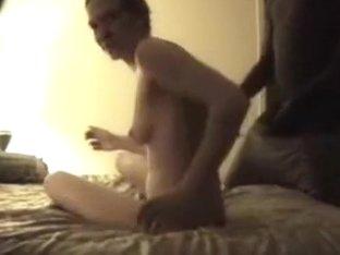 Three black guys fucking one white chick