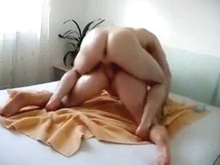 Busty brunette beauty in an oily fuck