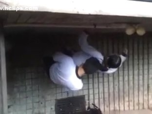 Chinese students stair fuck