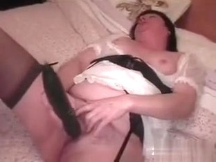 Cute chubby amateur bimbo who is getting naughty in this clip is my babe. She is drilling her beav.
