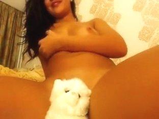 Naked brunette HannaHoney