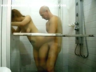 Asian american girl makes a sextape with her white bf in the shower