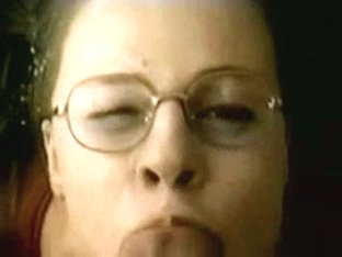Nerd chick gets a nice facial
