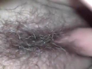 Boy plays with his shy girlfriend's hirsute muff for webcam