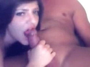 Smoking Hot Brunette Sucks And Fucks Boyfriend In Bed