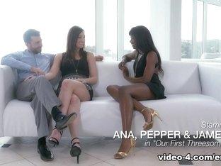 Amazing pornstars Ana Foxxx, James Deen in Hottest Cumshots, Cunnilingus adult video