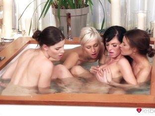 Exotic pornstars Gabriella Daniels, Eileen, Deny Moor in Horny Medium Tits, Cunnilingus adult video