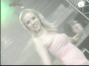 Slutty dancers flash upskirt on tv