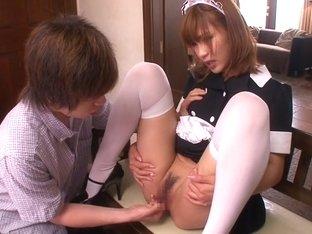 Anna Anjo in Squiriting Maid part 2.1