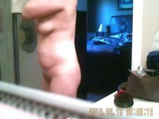 Wife bends over on hidden camera naked