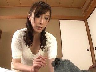 Exotic Japanese chick Homami Takasaka in Best handjobs, interracial JAV clip