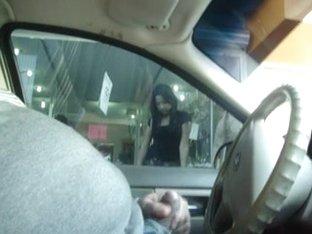 Flash and Cum in Car 1