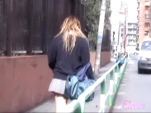 Wild sharking video showing cute Japanese girl's panties