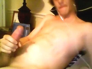 Blond Teen With Monster Cock Creams His Chest