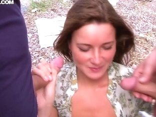 Amateur bitch Cristal May gets nasty outdoor