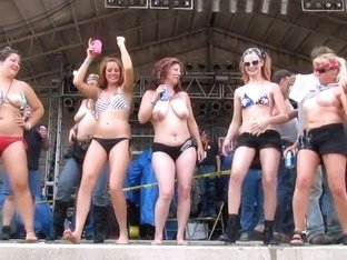 massive titty contest at iowa biker rally