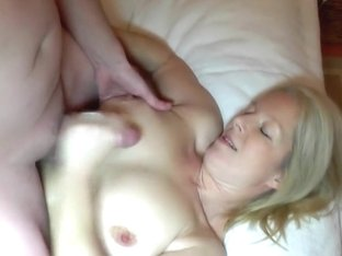 My huge bazookas look hot in my homemade cumshots video