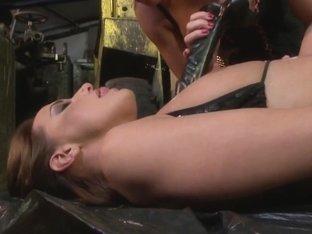 Andy Brown and Kathia Nobili ass dildoing hard