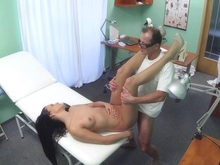 Euro patient cockriding doctor during exam