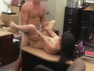 Cuban lady gets her shaved pussy priced at the shop