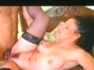 Vintage porn with lovely slut getting facial