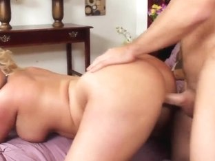 Doggy style is what blonde Julie Cash loves